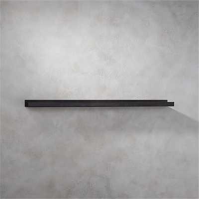 "Metal gunmetal wall shelf 48"" - CB2"