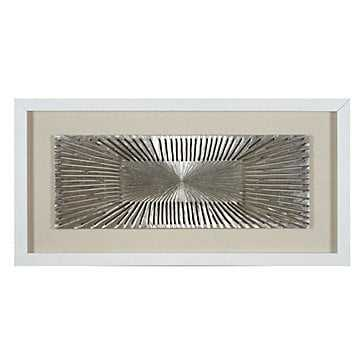 Silver Flare - White Frame - With Mat - Z Gallerie