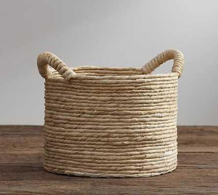 ABACA ROUND HANDLED BASKET - Pottery Barn