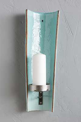 Alcove Candle Holder - Turquoise, Pillar - Anthropologie