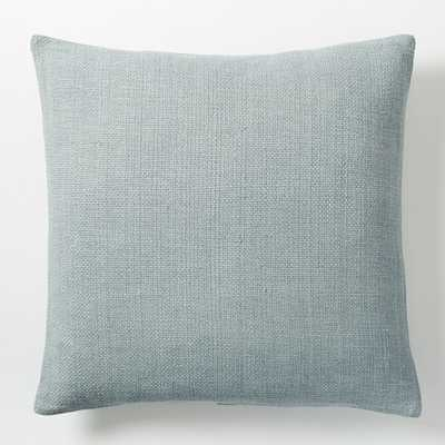 """Silk Hand-Loomed Pillow Cover - Moonstone - 20""""sq. - Insert sold separately - West Elm"""