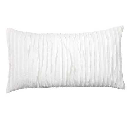 Camille Sham - King, White - Insert sold separately - Pottery Barn