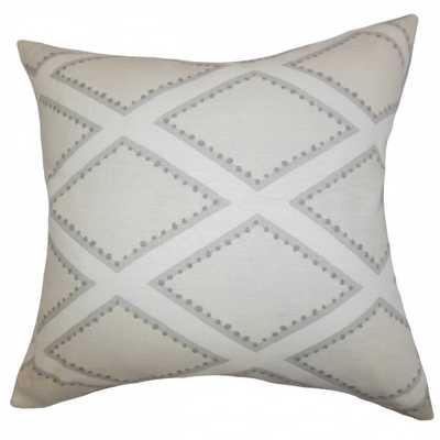 Alaric Geometric Pillow Gray - Down Insert - Linen & Seam