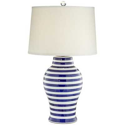 Kathy Ireland Sand Island Striped Ceramic Table Lamp - Lamps Plus