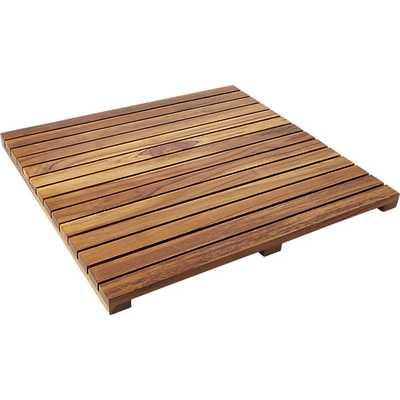 teak bath mat - CB2
