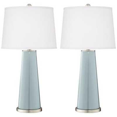 Rain Leo Table Lamp Set of 2 - Lamps Plus