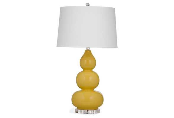 Caroline Table Lamp, modern, Yellow - One Kings Lane