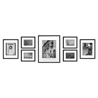 Gallery Perfect 7 Piece Multi-Size Wall Frame Set - Black - Target