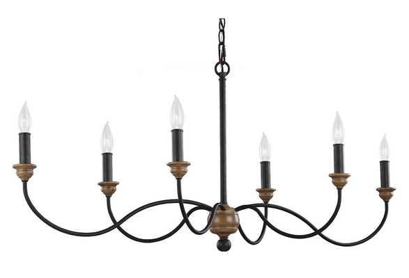 Palmira 6-Light Chandelier, elegant, Zinc - One Kings Lane
