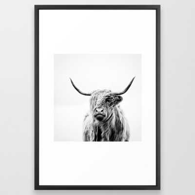 FRAMED ART PRINT VECTOR BLACK LARGE (GALLERY) - Society6