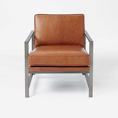 Metal Frame Leather Chair - West Elm