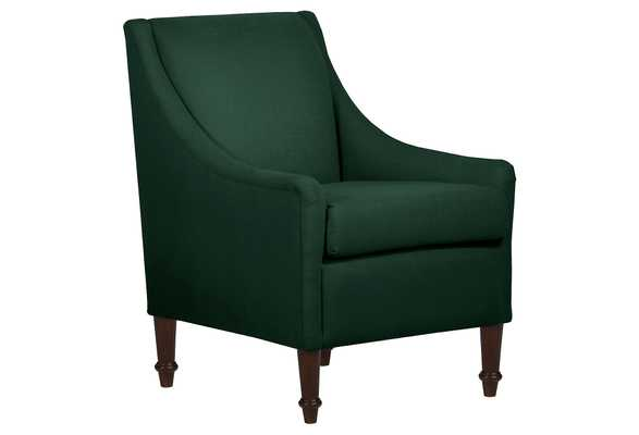 Holmes Accent Chair, classic, Forest Linen, Made in the USA - One Kings Lane