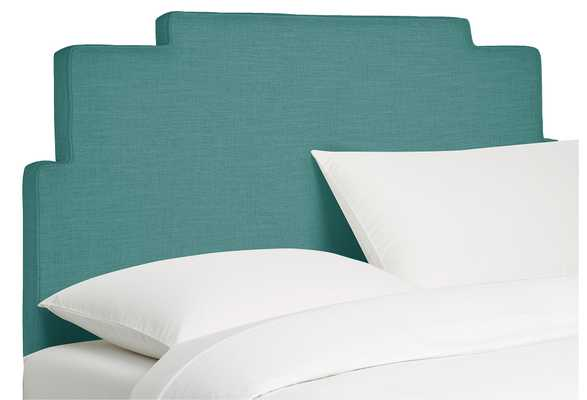Queen Paxton Headboard, sophisticated, Teal Linen, Made in the USA - One Kings Lane