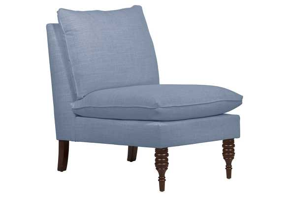 Daphne Slipper Chair, classic, French Blue Linen, Made in the USA - One Kings Lane
