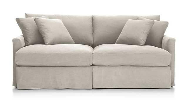 "Lounge II Slipcovered 83"" Sofa - Dove - Crate and Barrel"