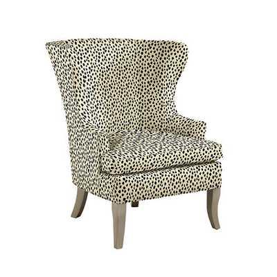 Thurston Wing Chair without Nailheads - Dodie Beige, black - Ballard Designs