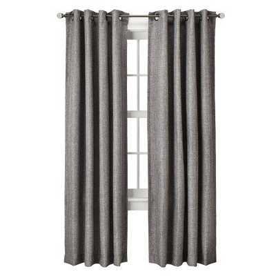 "Basketweave Curtain Panel - Gray - 54""W x 95""L - Target"