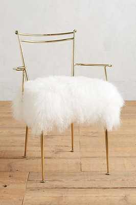 Shag Puff Dressing Chair - Anthropologie