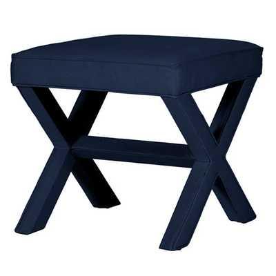 X Bench - Twill Indigo - Ballard Designs