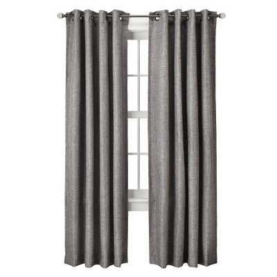 "Basketweave Curtain Panel - Gray - 54""W x 84""L - Target"