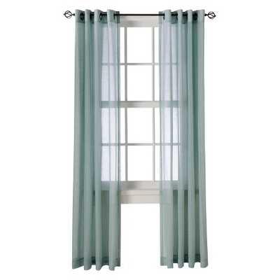"Linen Grommet Sheer Curtain Panel - Blue - 54""W x 95""L - Target"