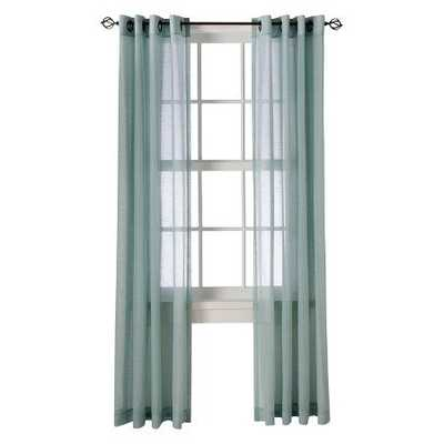 "Linen Grommet Sheer Curtain Panel - Blue - 54""W x 84""L - Target"