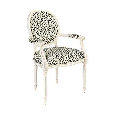 Oval Back Louis XVI Armchair - Dodie Beige - Ballard Designs