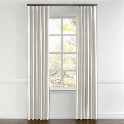 "Ivory Linen curtain, ring top - Cotton Lining, 96""L x 50""W - Loom Decor"