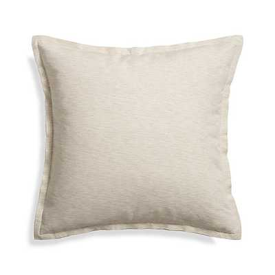 "Linden Natural 23"" Pillow - Crate and Barrel"