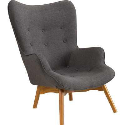 Canyon Vista Mid-Century Accent Chair Dark Grey - Wayfair