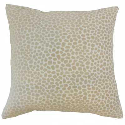 """Badr Geometric Pillow Ivory-18"""" x 18""""-Down Insert - Linen & Seam"""