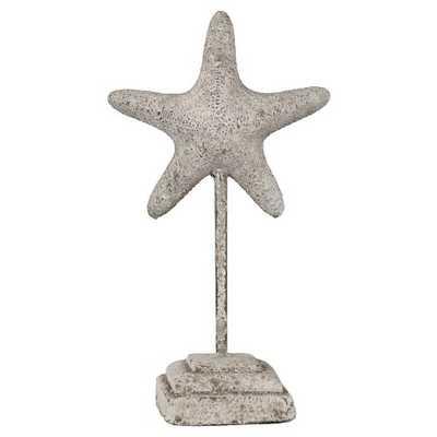 Grey Ceramic Starfish on a Stand - Target