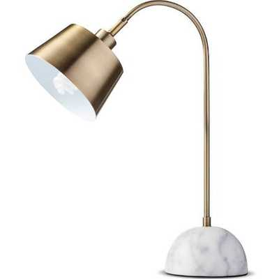 Threshold Brass Task Lamp with White Marble Base - Target