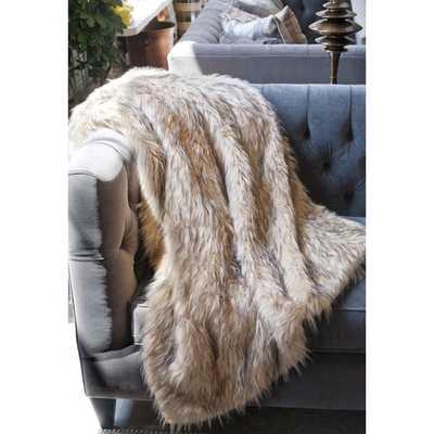 Lynx Faux Fur Throw - Overstock