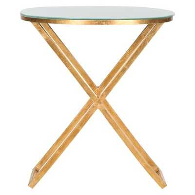 Safavieh Accent Table - Gold White - Target