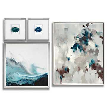 Cerulean Impressions- Set of 4 - Z Gallerie