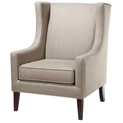 Barton Wing Chair - Beige - Wayfair