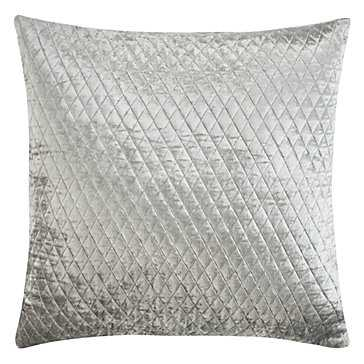 Avalon Pillow, 22''W x 22''H, Feather and down insert, Steel - Z Gallerie