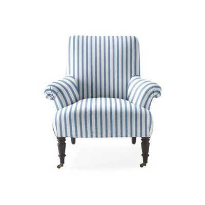 Avignon Chair [fabric : Perennials® Pinstripe - French Blue] - Serena and Lily