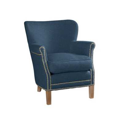 Belgian Chair [Luxe Leather - Blue Moon] - Serena and Lily
