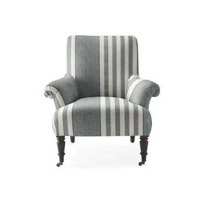 Avignon Chair [fabric : Perennials® Cabana Stripe - Platinum] - Serena and Lily