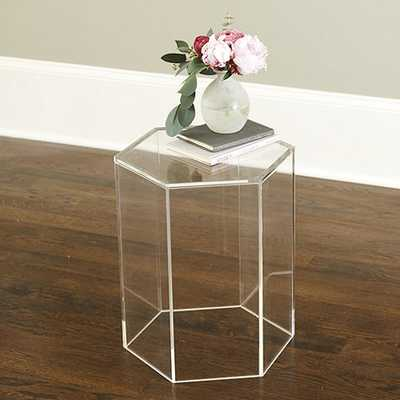 Acrylic Hexagon Side Table - Ballard Designs