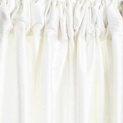 "Dupioni Silk Drapery Panel - White, 108""L - Ballard Designs"