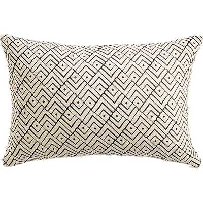"triangle lattice 18""x12"" pillow - Feather Down Insert - CB2"