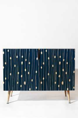 NAVY ENTANGLED CREDENZA- Wood Tapered Leg - Wander Print Co.
