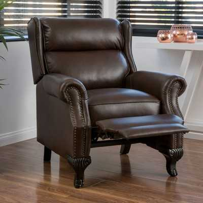 Tauris PU Leather Recliner Club Chair by Christopher Knight Home - Overstock
