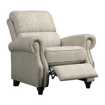ProLounger Barley Tan Linen Push Back Recliner Chair - Overstock