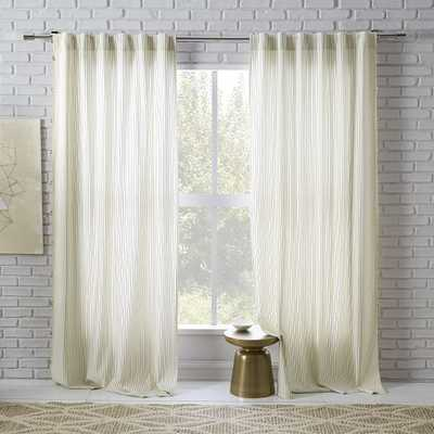 "Tassel Stripe Curtains (Set of 2) - 84""L - West Elm"