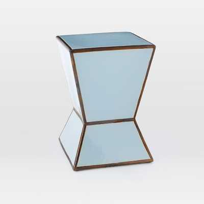 Ceramic Trapezoid Side Table - Pale Blue - West Elm