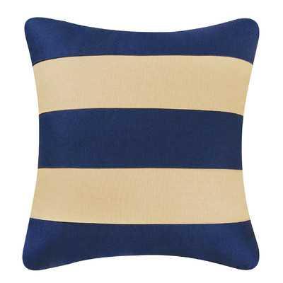 "Stripes Throw Pillow - Navy - 17"" H x 17"" W - Polyester Fill - Wayfair"